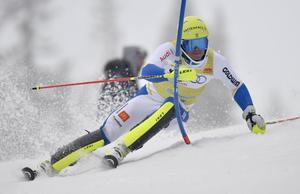 André Myhrer på väg mot segern i Ski Funtastic i Lindvallen.