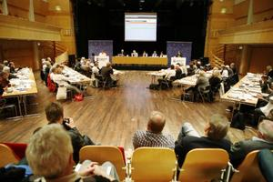 Ledningsgruppen för översyn av den politiska organisationen föreslår att antalet ledamöter i Östersunds kommunfullmäktige kan minskas från 67 till 61 ledamöter.