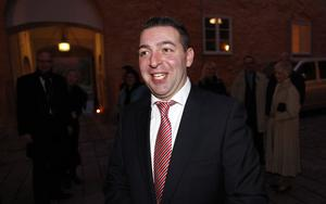 Riksdagsledamoten Roger Haddad (FP) var som vanligt på glatt humör.