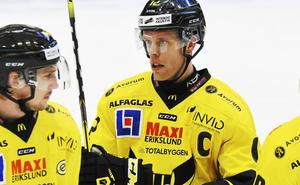 Fredrik Johansson, lagkapten i VIK. Kan fortfarande bli kvar i Hockeyettan.