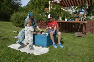 Gullfina från Trolska skogen lekte med barnen.