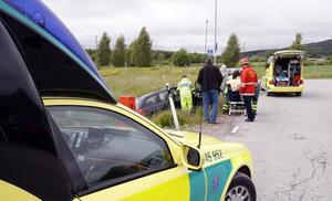 En mindre singelolycka inträffade på fredagen invid Norrkämstaleden.