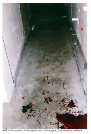 Brottsplatsen. I den här källaren sköts 26-åringen genom benet.