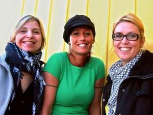 Tävlar. Pia de Veen, Veroniqa Perzon och Johanna Fröjd.