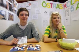 5. Måns Ekholm har praktiserat på Bilda och Felicia Johnson Törnros har varit på Östra skolan i klass fem.