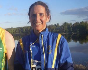 Karin Wåhlstedt. Järvsö IF tog fyra guldmedaljer i veteran-SM.