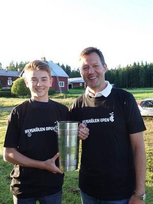 Tim Fuglseth och Eric Fuglseth blev årets vinnare av golftävlingen som ägde rum den åttonde augusti