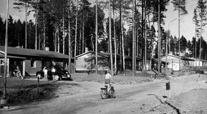 8 juli 1957. Några av villorna på Norra Malmaberg.