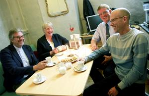 Jan Bonander, Marit Holmstrand, Olle Larsson och Leif Sköld ser fram emot samarbetet i nya pastoratet.