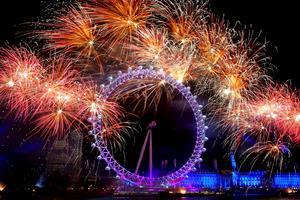 Festa in det nya året i London.