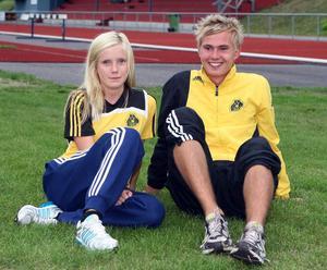 Louise Österberg och Markus Åsberg på tisdagens träningspass.