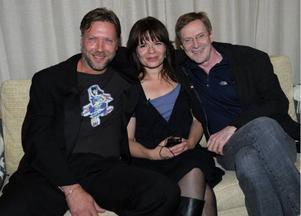 Maria Heiskanen tillsammans med sina motskådespelare Mikael Persbrandt och Jesper Christensen. Foto: Fredrik Sandberg/Scanpix
