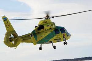 Ambulanshelikopter från Jämtland.
