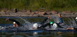 Simning 750 meter, cykling 20 kilometer och löpning 5 kilometer stod på menyn när Tällberg Triathlon hade premiär.