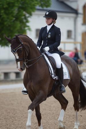 Felicia Brännström på hästen Don Scudo