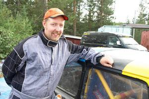 Micke Ahnström från Ånge har alltid tävlat för Hede MK. Han höll sig framme i finalen men en havererad växellåda i hans VW Variant ställde till det.