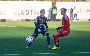 Agnes Dahlström i närkontakt med SM–mästarinnan Lina Hurtig, bördig från Avesta.