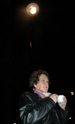 Irene Stridh (S) var en av de fem ledamöter i kommunfullmäktige som kom till Jesusbussen efter inbjudan från Ungdomsnätverket.