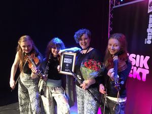 Gruppen Norr Rå vann regionfinalen i Musik Direkt. Pressbild.