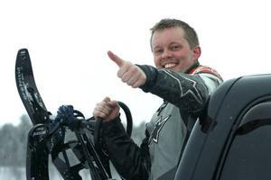Nästa år ska jag upp i 200, sa snowracer åkande Mange Jensen.