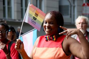 En av alla peppade deltagare var Naome Ruzindana från föreningen Find Hope.