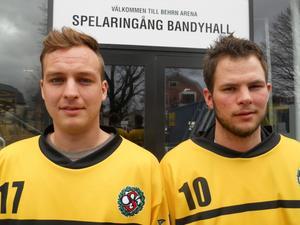 Martin Apelqvist, t v, och Johan Andersson.