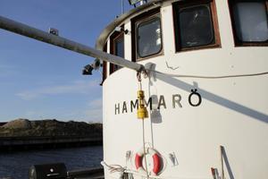 Båten Hammarö byggdes 1947 och är 23 meter lång.