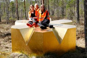 Det var premiärguidning i nationalparken för Linnea Karlsson, Alva Karlsson och Thea Nilsson, som alla går i femman i Los skola.