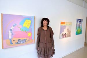 Inspirerad av Edward Munch. Astrid Mørland återfinns på Galleri S.
