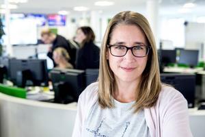 Karin Näslund, ansvarig utgivare och chefredaktör för Sundsvalls tidning.