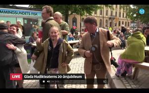 Artisten Ida Johansson  lärde vår reporter Torbjörn Ingvarsson några dansmoves.
