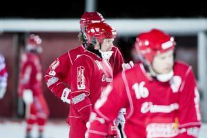 Joakim Hedberg gjorde två mål för sitt Söråker Bandy.
