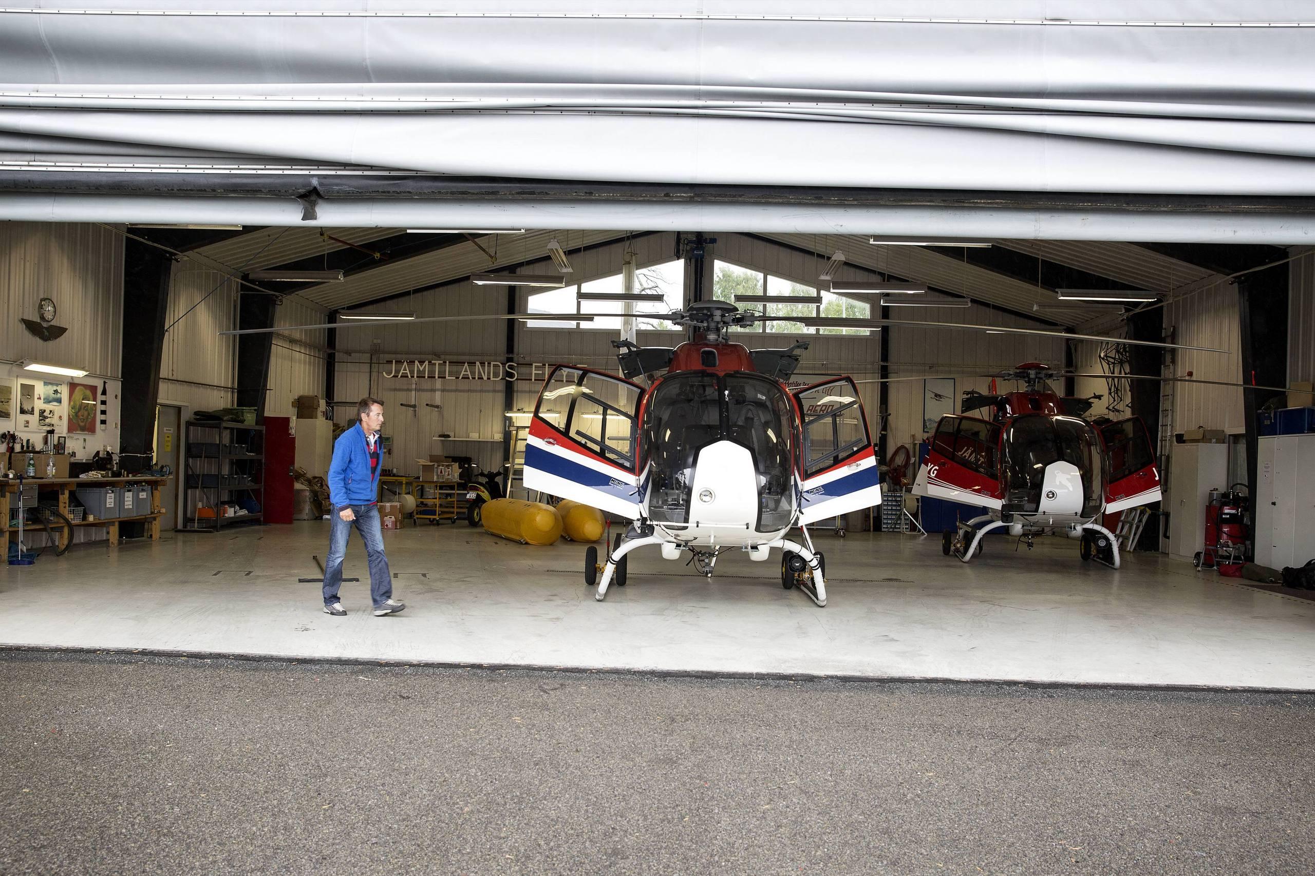 Helikopter voltade vid nodlandning