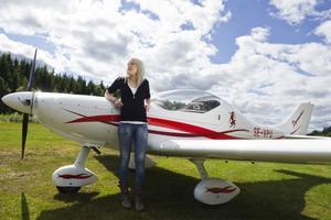När flygplanet i Sundsvall gick sönder åkte Isabelle Nylander till Bollnäs flygklubb för att fortsätta sin flygutbildning.