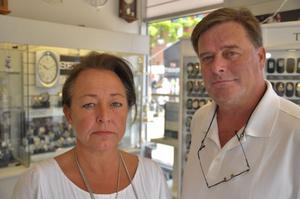 Birgitta Heramb och Bengt Westman På Herambs Ur är trötta på alla inbrott de drabbats av genom åren