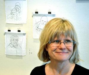 Ulrika Formgren är en av medlemmarna i Handlaget som ställer ut på Svenssons ramar.