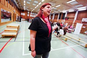 Ida Ross arbetar som fritidsledare i Lit. Hon är stolt över att tjejgruppen fixat Tjejmässan.