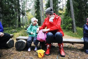 Frida Hansson, 3 år, började vara med på Knytte under hösten.