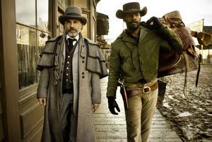 """Jamie Foxx och Christoph Waltz. De spelar huvudrollerna i Quentin Tarantinos våldsamma och roande """"Django Unchained""""."""