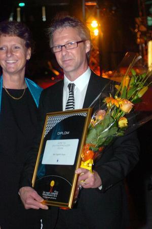 Förre Ica-handlaren Mats Nygårdh i Järvsö prisades som årets entreprenör i länet.