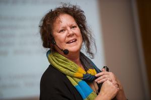 Agneta Högstadius jobbar med El Sistema i Umeå och berättade i går om deras modell.