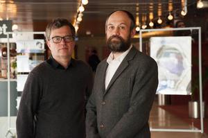 Jon Wengström, chef på Filmarkivet, och Danial Brännström, Cinematekschef, berättar om