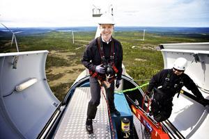 Peter Agnefjäll, högsta basen för Ikea i Sverige tog sig till toppen på Ikeas satsning på vindkraft.