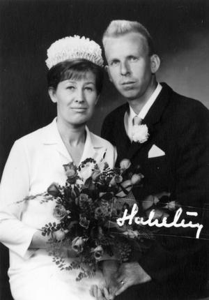 Ester och Ingemar Gustafsson gifte sig 1963.