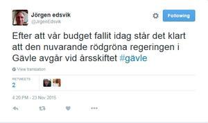 Jörgen Edsvik (S) konstaterade faktum.