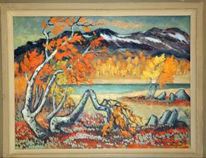 Agnar Lindström motiv var oftast fina naturbilder och blommor.