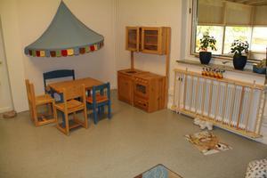 Så här ser det ut i ett av lekrummen i Västergårdens förskola.