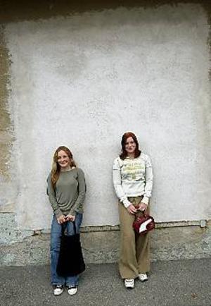 Foto: LEIF JÄDERBERGMålmedvetna. Både Sanna Andersson och Sarah Thegerström vill bli advokater och gärna jobba i USA. Då gäller det att kunna prata engelska flytande, därför har de valt att byta Lillhagsskolan mot nystartade Engelska skolan på Södra Kungsgatan.