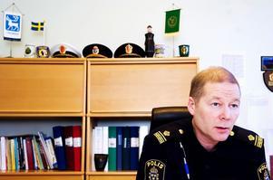 Rune Lindbom är chef för lokalpolisområde Mora. Foto: Arkiv
