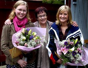 Stipendiater. Inger Bergqvist, kulturnämndens ordförande, delade ut årets kulturstipendium till Maria Walla och Camilla Sörman.